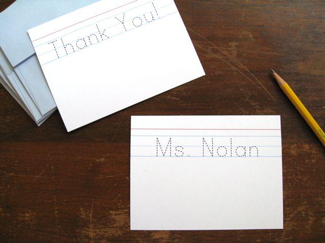 Thank you teacher font