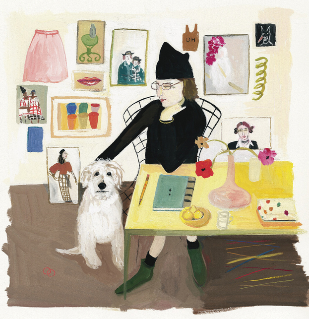 Maira-kalman-Self-Portrait-with-Pete