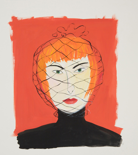 Maira-kalman-Woman-with-Face-Net